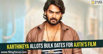 Karthikeya allots bulk dates for Ajith's film