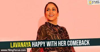 Lavanaya happy with her comeback