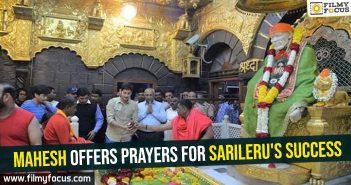 Mahesh offers prayers for Sarileru's success
