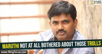 Maruthi not at all bothered about those trolls