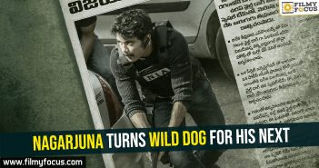 Nagarjuna turns Wild Dog for his next
