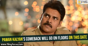 Pawan Kalyan's comeback will go on floors on this date