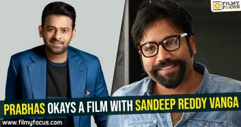 Prabhas okays a film with Sandeep Reddy Vanga
