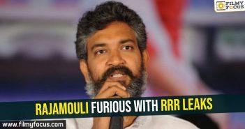 Rajamouli furious with RRR leaks