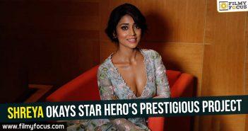 Shreya okays star hero's prestigious project