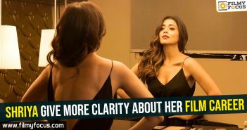 Shriya give more clarity about her film career