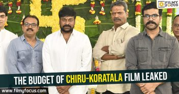 The budget of Chiru-Koratala film leaked