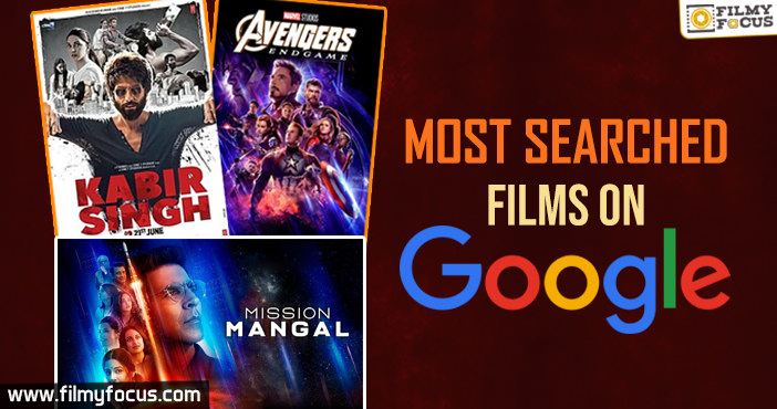 Top 10 most searched films on Google