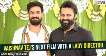 Vaishnav Tej's next film with a lady director