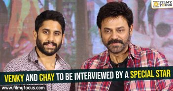 Venky and Chay to be interviewed by a special star
