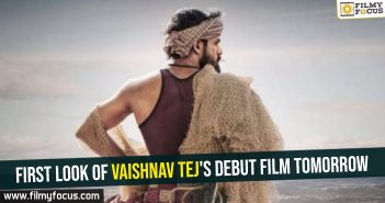 First look of Vaishnav Tej's debut film tomorrow