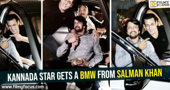 Kannada star gets a BMW from Salman Khan