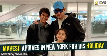 Mahesh arrives in New York for his holiday