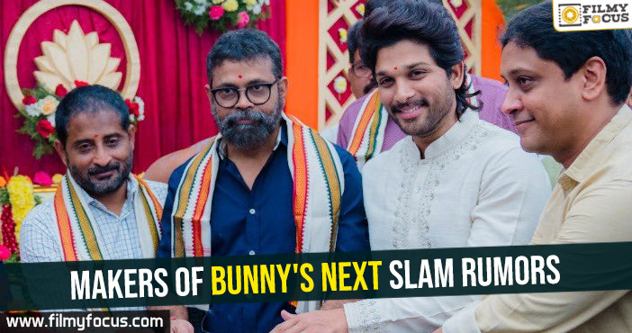 Makers of Bunny's next slam rumors
