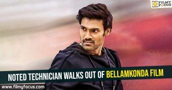 Noted technician walks out of Bellamkonda film