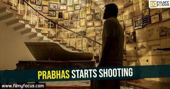 Prabhas starts shooting