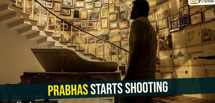 Fans releaved- Prabhas starts shooting