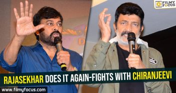 Rajasekhar does it again-Fights with Chiranjeevi