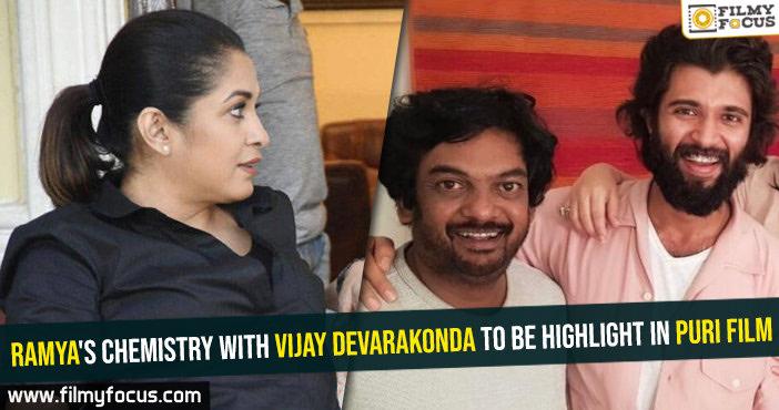 Ramya's chemistry with Vijay Devarakonda to be highlight in Puri film