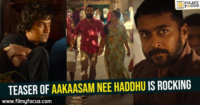 Teaser of Aakaasam Nee Haddhu is rocking