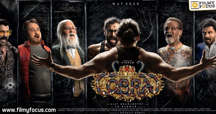 Cobra first look out Vikram sizzles in seven roles