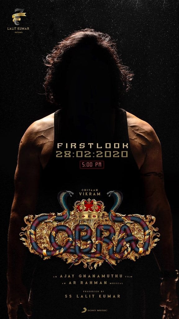 First look of Vikram's prestigious project on this day1
