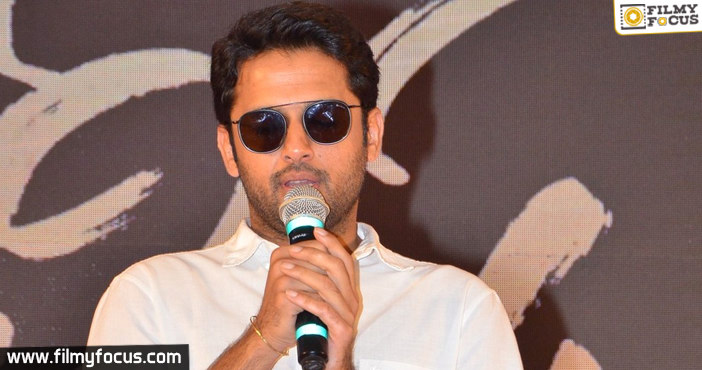 Nithiin becomes emotional at Bheeshma success meet