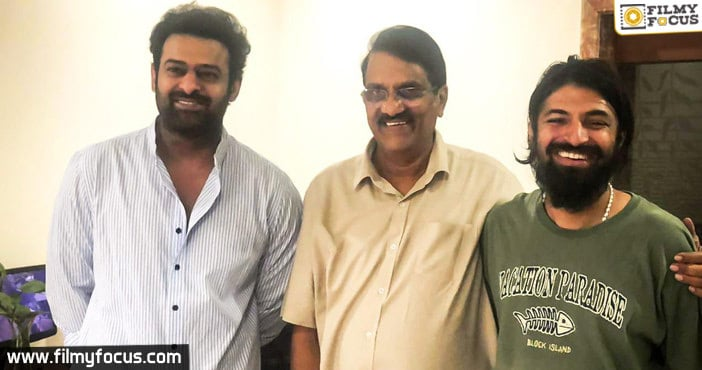 Viral Pic of the day-Prabhas with the team of his next