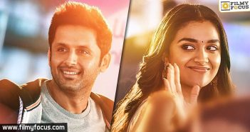 Nithin and Kerthy Suresh shine in Rangde's first look