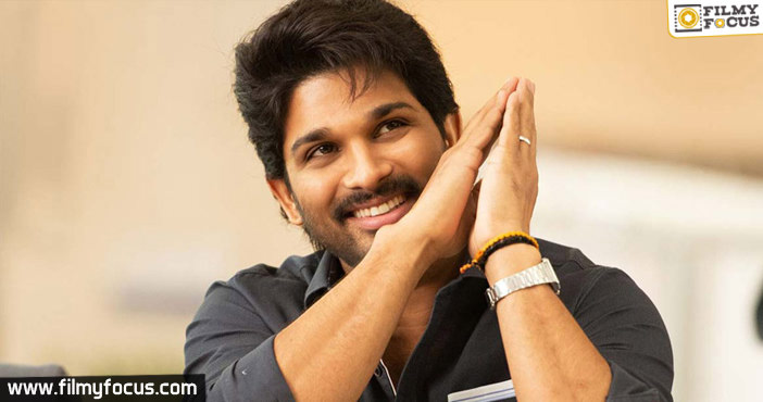 Allu Arjun leans down for his next project