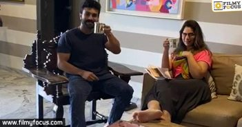 Ram Charan makes tea for his wife