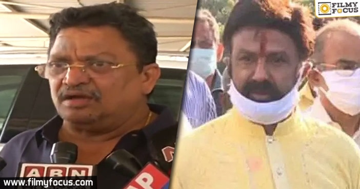 Balakrishna Latest Movie Producer Reacts To The Actor's Comments