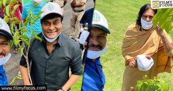 Chiranjeevi, Pawan Kalyan Take Part In Green India Challenge