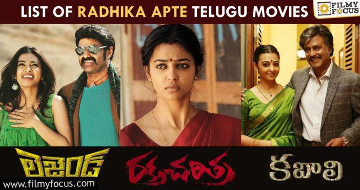 How Many Movies Did Radhika Apte Act In Telugu
