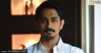 Fans Of Siddharth Expect A Blasting Comeback