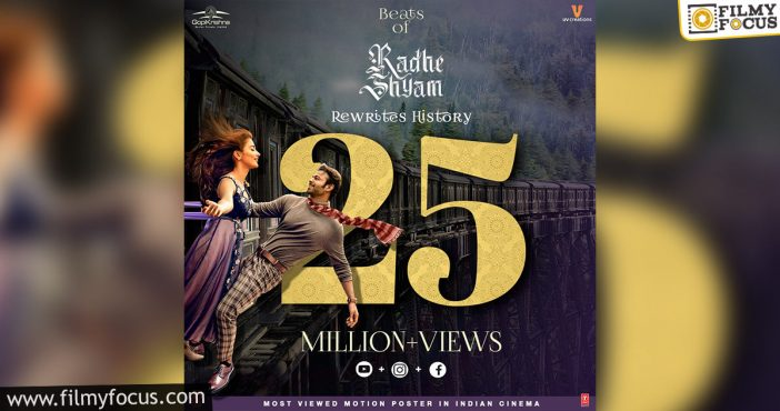 Radheshyam Continues To Create History As The Most Viewed Motion Poster