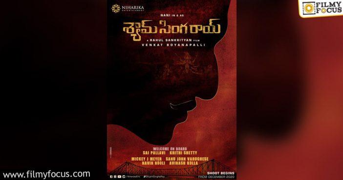 Shyam Singha Roy Shoot Begins From December