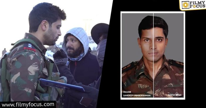Adivi Sesh Reveals Look Test As Major Sandeep Unnikrishnan For The Bilingual Film Major