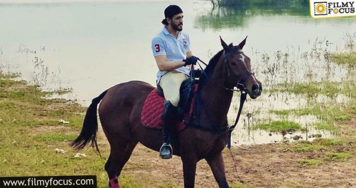 Akhil Akkineni Loves Horse Riding