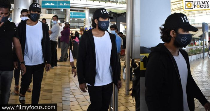 Allu Arjun Spotted In A Casual Look At The Airport