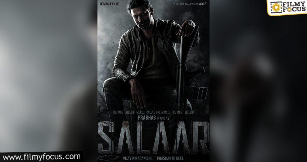 Pan India Movie 'salaar' With Prabhas And Director Prashanth Neel1