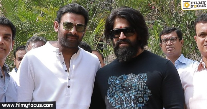 Prabhas And Yash From 'salaar Movie Launch In Hyderabad (2)