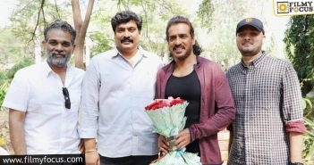 Kannada Star Upendra Joins Ghani Sets