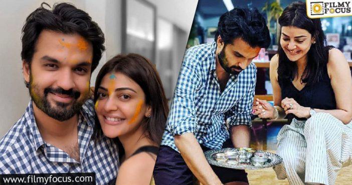 Kajal Aggarwal Celebrates Holi With Her Husband
