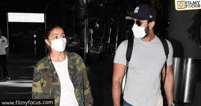 Alia Bhatt Returns India Along With Ranbir