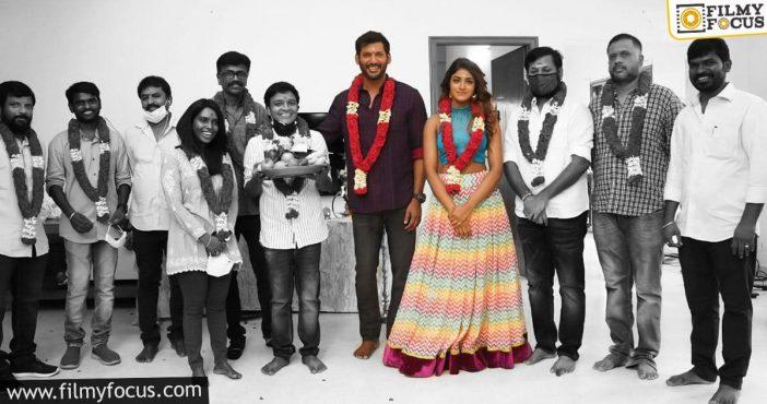 Amid Covid Scare, Vishal Kick Starts Shooting For A New Film