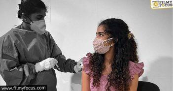 anupama parameswaran gets her first jab of the covid 19 vaccine