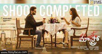 nithiin, merlapaka gandhi, sreshth movies maestro shooting completed