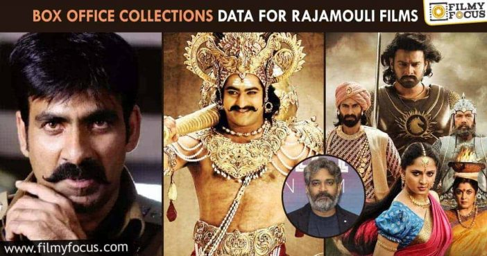 Box office collections data for Rajamouli films