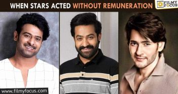 When stars acted without remuneration